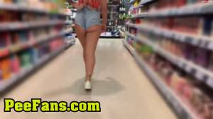 Click to play video Very naughty piss on supermarket freezer (hot girl very public pee)